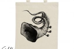Trąbka - torba z nadrukiem ecru