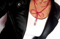 choker BOHO różne kolory wrap neck