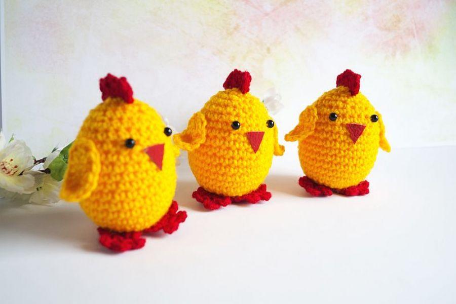 Zestaw 3 kurczaczków wielkanocnych