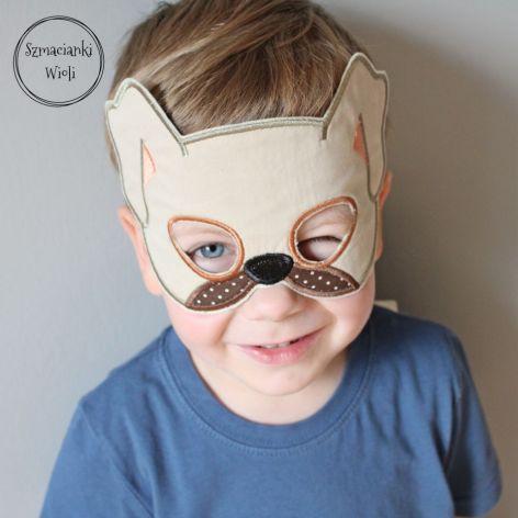 Maska dla dzieci i dorosłych - PIES/SZCZENIAK