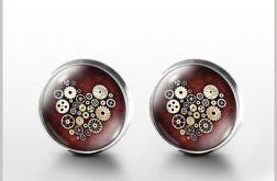 Steampunk Heart - Steampunkowe serce - kolczyki wkrętki