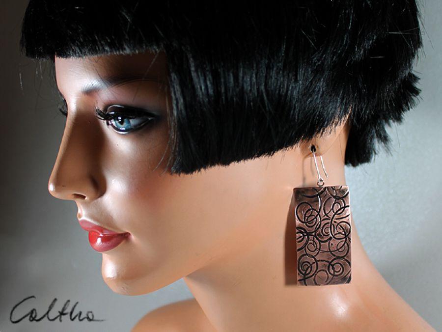 zawijasy - miedziane kolczyki 141113-13 - miedziana biżuteria