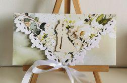 Kartka ślubna kopertowa kopertówka floral XIII para