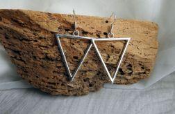 Kolczyki trójkąty wiszące