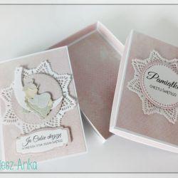 Wyjątkowa KARTKA w pudełku na CHRZEST - 1