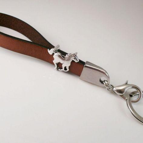 Brelok mini smycz do kluczy koń