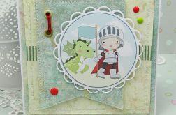 Kartka z małym rycerzem -  urodzinowa