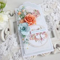 Ślubna kartka  w pudełku 244