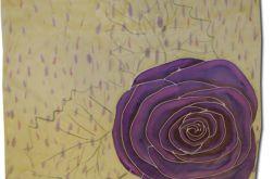 Chusta Jedwabna - fioletowa róża
