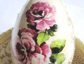 peoniowe jajo z reliefem
