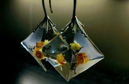 El Dorado - kolczyki z żywicy i srebra