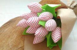 Tulipan 100% bawełna 10szt.biały