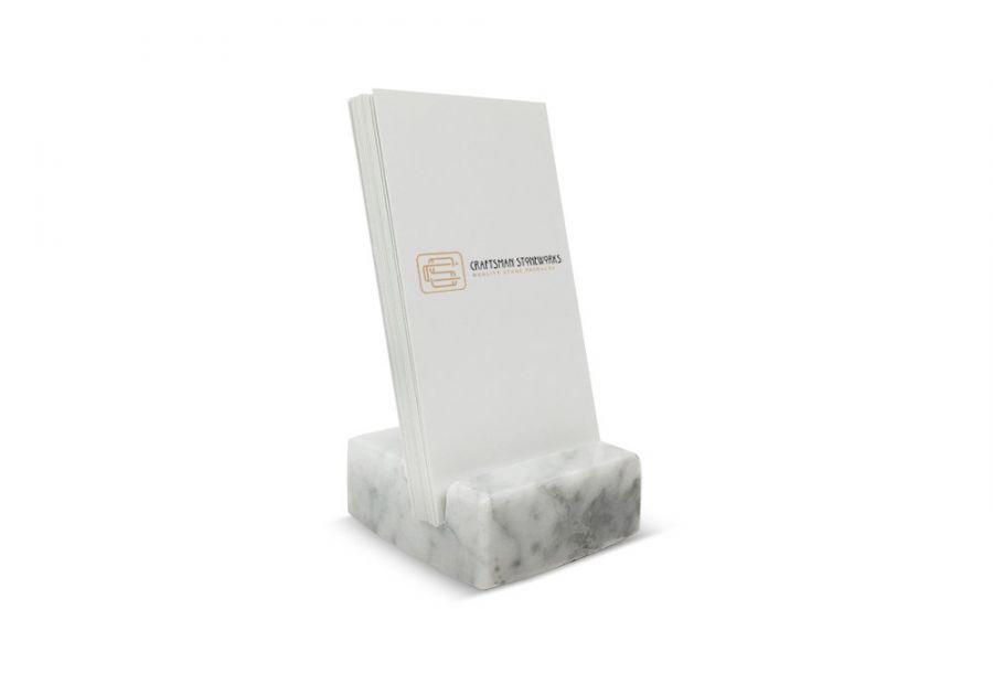 Wizytownik z marmuru Bianco Carrara 5x5cm