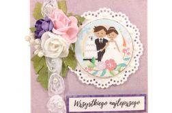 kartka ślubna z grafiką #523