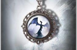 Medalion Smok cienia - Shadow Dragon - zdobiony