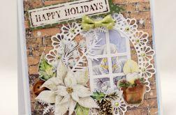 Okno wigilijne * Kartka świąteczna KBN1925