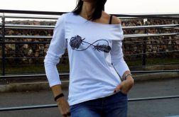 """t-shirt RĘKAW """"RÓŹA&PIÓRO"""""""