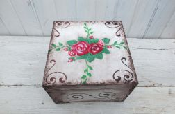 Pudełko Kuferek Szkatułka Róże