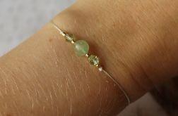 Bransoletka sznurkowa z kamieniem jadeitem