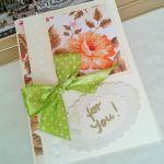 """kartka  """"dla Ciebie"""" - kartka z kwiatami"""