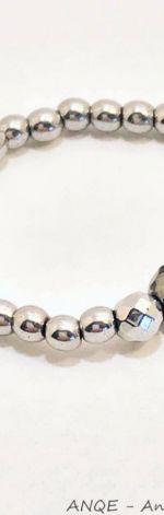 Pierścionek elastyczny z Hematytu srebrnego9