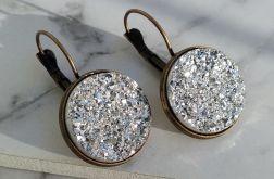 Kolczyki z druzami srebrnymi