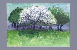 Białe drzewko