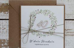 Rustykalna kartka urodzinowa 40