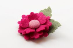 Spinka do włosów kwiatek raspberry
