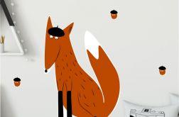 Lis w berecie - naklejka ścienna