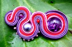 W odcieniach fioletu, broszka