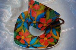 filiżanka z porcelany, ręcznie malowana