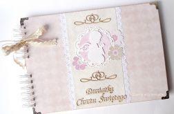 Album Pamiątka Chrztu różowo-beżowy