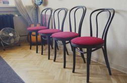 krzesła OldGrafit-Burgund