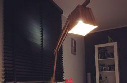 Duża Drewniana Lampa Podłogowa Żyrafa