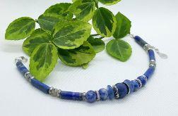 Bransoleta etno z lapis lazuli i sodalitem