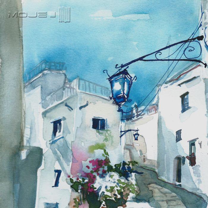 Pędzlem przez Włochy 01 - obrazek malowany
