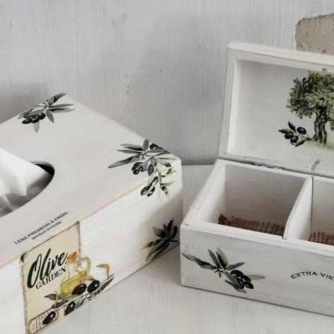 Chustecznik i herbaciarka- komplet #