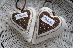 Brązowe serduszko dla babci lub dziadka