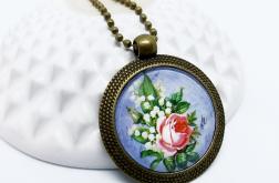 Medalion, wisior - Róża - Fabricate