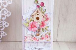 Kartka urodzinowa DL Raspberry Garden GOTOWA