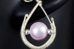 Perła słodkowodna, srebrne kolczyki z perłą