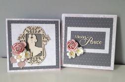 Kartka ślubna wraz z pudełkiem kwiaty para mł