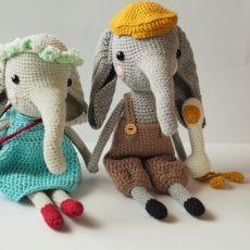 szydełkowa słonisia Marysia, szydełkowy słoń