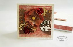 Kartka ślubna z kwiatem #2