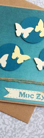 moc życzeń - motyle - turkus