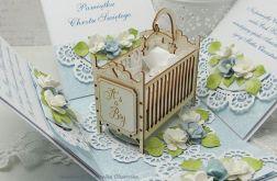 Pamiątka Chrztu Św.- z łóżeczkiem