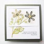 Kartka URODZINOWA beżowo-szare kwiaty - Kartka Urodzinowa beżowo-szare kwiaty