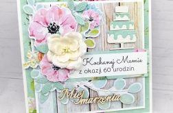 Kartka urodzinowa kwiecista torcik PDK 003