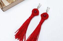 Kolczyki sutasz czerwone z chwostem #5